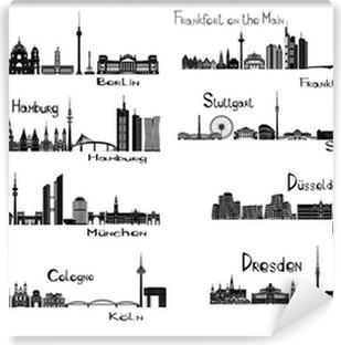 Vinyl-Fototapete 8 Städte in Deutschland