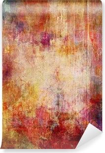 Vinyl-Fototapete Abgeblätterte farbschichten auf leinwandstruktur