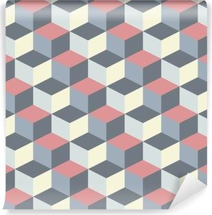 Vinyl-Fototapete Abstrakte kubischen geometrischen Muster Hintergrund