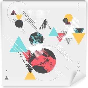 Vinyl-Fototapete Abstrakter moderner geometrischer Hintergrund