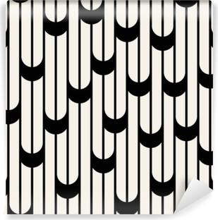Vinyl-Fototapete Abstraktes geometrisches Schwarzweiss-minimales Grafikdesign zeichnet Muster