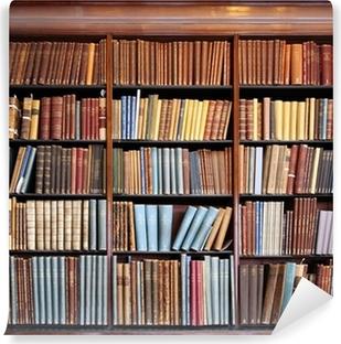Vinyl-Fototapete Alte Bibliothek Bücherregal