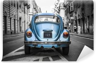 Vinyl-Fototapete Alte blaue Auto