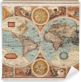 Vinyl-Fototapete Alte Karte (1626)