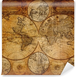 Vinyl-Fototapete Alte Karte (1746)