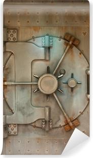 Vinyl-Fototapete Alte Safe oder Gewölbe Tür mit Rostflecken
