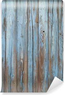 Vinyl-Fototapete Alten blauen Holzwand