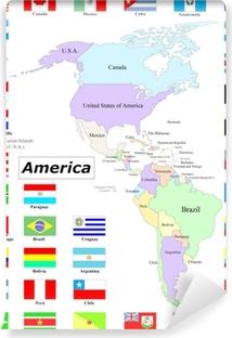 Pentaptychon Amerika Mappe E Bandiere Pixers Wir Leben Um