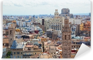 Vinyl-Fototapete Angesichts der historischen Zentrum von Valencia