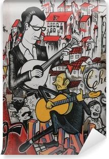 Vinyl-Fototapete Anonymen Graffiti-Shows traditionellen portugiesischen Fado-Sängerin.