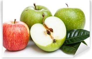 Vinyl-Fototapete Äpfel auf dem Tisch