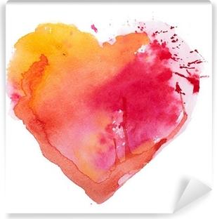 Vinyl-Fototapete Aquarell Herzen. Concept - Liebe, Beziehung, Kunst, Malerei