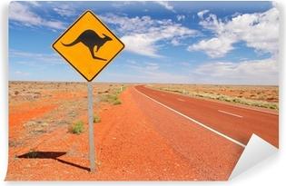 Vinyl-Fototapete Australian endlosen Straßen