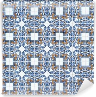 Fototapete Detail Der Azulejos Traditionelle Portugiesische Kacheln - Portugiesische fliesen azulejos