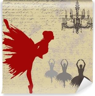 Vinyl-Fototapete Ballerina Hintergrund