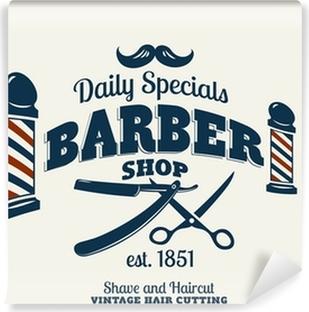 Vinyl-Fototapete Barber Shop.