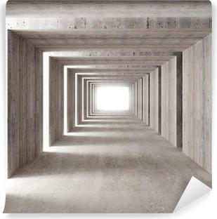 Vinyl-Fototapete Beton-Tunnel und seitliche Beleuchtung