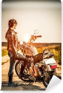 Vinyl-Fototapete Biker girl
