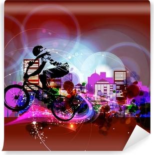 Vinyl-Fototapete Biker. Vektor