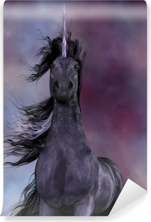 Vinyl-Fototapete Black Unicorn