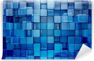 Vinyl-Fototapete Blauen Blöcke abstrakten Hintergrund