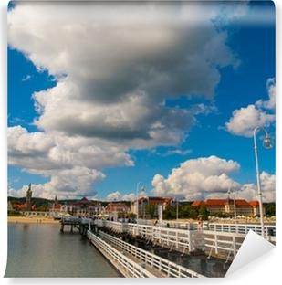 Vinyl-Fototapete Blick von der Pier in Sopot