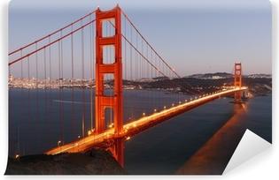Vinyl-Fototapete Blick zur Golden Gate Bridge in San Francisco / USA
