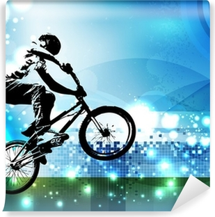 Vinyl-Fototapete BMX-Biker