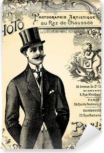 Vinyl-Fototapete Bräutigam 1900