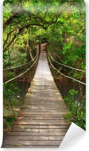Vinyl-Fototapete Brücke zum Dschungel, Khao Yai Nationalpark, Thailand