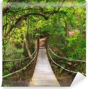 Vinyl-Fototapete Brücke zum Dschungel, Thailand