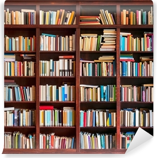 Vinyl-Fototapete Bücherregal voll mit Bücher