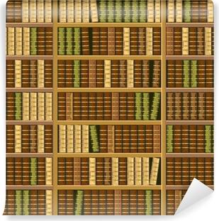 Vinyl-Fototapete Bücherregal voller alter Bücher