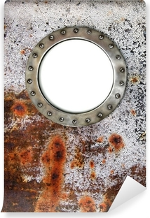 Vinyl-Fototapete Bullaugen-Rahmen an der alten rostigen Schiff - nautische Fenster