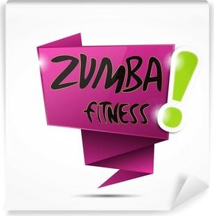 Vinyl-Fototapete Bulle Origami: Zumba Fitness fuchsia!