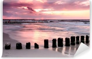 Vinyl-Fototapete Calmness.Beautiful Sonnenuntergang an der Ostsee.