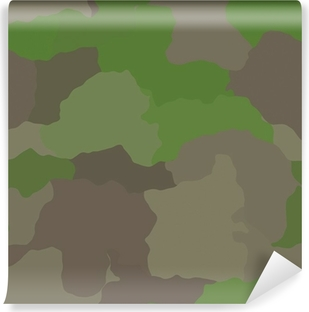 Vinyl Fototapete Camouflage Muster Dschungel Farben Design Grafik Tapete