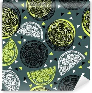 Vinyl-Fototapete Citrus Muster Grafiken