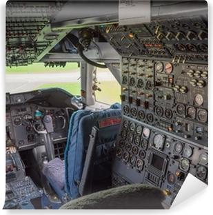 Vinyl-Fototapete Cockpit eines Jumbo-Jets