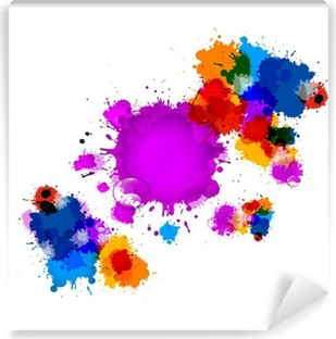 Vinyl-Fototapete Colorful Vector Stains, Blots, Spritzer Hintergrund