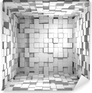 Vinyl-Fototapete Cube room 3d - Hintergrund