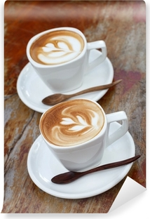 Vinyl-Fototapete Cup of coffee latte