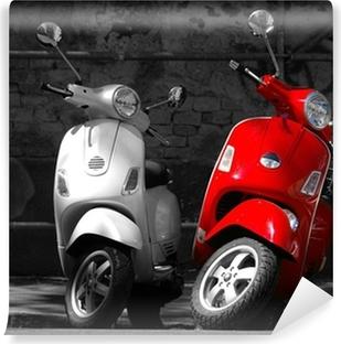 Vinyl-Fototapete Das ist zwei Motorräder in der Stadt.