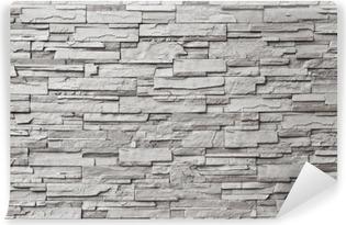 Vinyl-Fototapete Der graue moderne Steinmauer