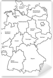 Deutschland Karte Bundesländer Schwarz Weiß.Fototapete Deutschlandkarte Bundesländer Und Landkreise Pixers