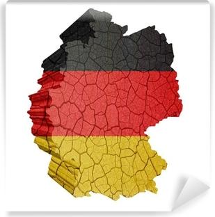 Vinyl-Fototapete Deutschlandkarte