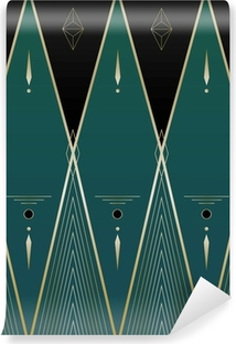 Vinyl-Fototapete Diamanten Art Deco Hintergrund