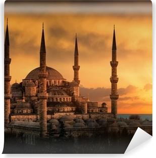 Vinyl-Fototapete Die Blaue Moschee in Istanbul bei Sonnenuntergang