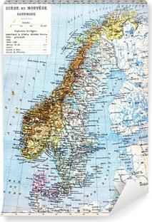 Schweden Karte Pdf.Leinwandbild Die Karte Von Schweden Norwegen Und Danemark