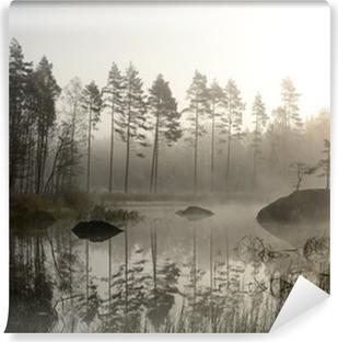 Vinyl-Fototapete Die nebligen Herbst-Landschaft